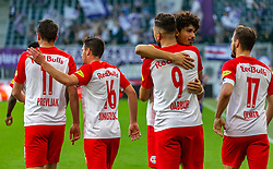 31.03.2019, Red Bull Arena, Salzburg, AUT, 1. FBL, FC Red Bull Salzburg vs FK Austria Wien, Meistergruppe, 23. Spieltag, im Bild Jubel Smail Prevljak (FC Red Bull Salzburg), Zlatko Junuzovic (FC Red Bull Salzburg), Andre Ramalho (FC Red Bull Salzburg), Munas Dabbur (FC Red Bull Salzburg), Andreas Ulmer (FC Red Bull Salzburg) // during the tipico Bundesliga Master group, 23th round match between FC Red Bull Salzburg and FK Austria Wien at the Red Bull Arena in Salzburg, Austria on 2019/03/31. EXPA Pictures © 2019, PhotoCredit: EXPA/ Stefanie Oberhauser