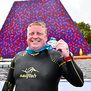 Ian Sainsbury is his second time Six Miles Swim Serpentine 2018, London, UK. 22 September 2018.