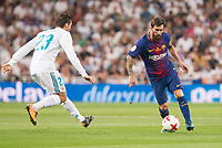 Real Madrid's Mateo Kovacic and FC Barcelona's Leo Messi during Supercup of Spain 2nd match at Santiago Bernabeu Stadium in Madrid, Spain August 16, 2017. (ALTERPHOTOS/Borja B.Hojas)