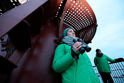 NORWAY ANDENES 8DEC15 - Greenpeace campaigners Larissa Baeumer of Germany and Erlend Tellnes (R) of Norway during whale spotting from the lighthouse on the coast at Andenes, Norway.<br /> <br /> jre/Photo by Jiri Rezac / Greenpeace<br /> <br /> © Jiri Rezac 2015