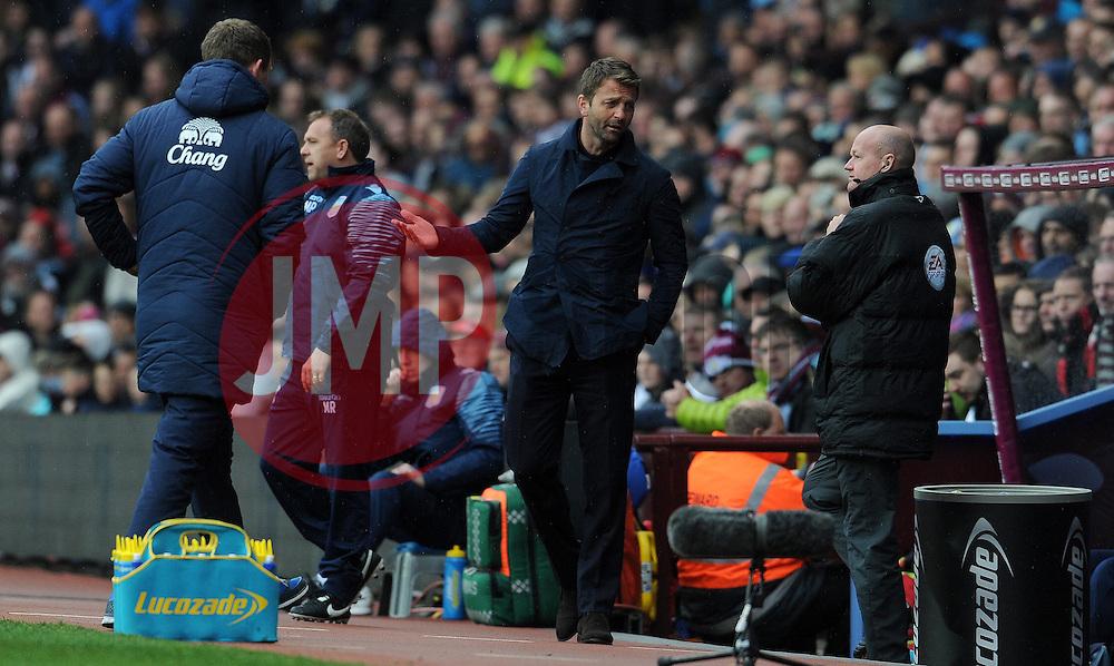 Aston Villa Manager, Tim Sherwood- Photo mandatory by-line: Harry Trump/JMP - Mobile: 07966 386802 - 29/04/15 - SPORT - FOOTBALL - Birmingham - Villa Park - Aston Villa v Everton - Barclays Premier League