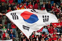 03.06.2010, Tivoli, Innsbruck, AUT, FIFA Worldcup Vorbereitung, Testspiel Spanien (ESP) vs Sued Korea (KOR), im Bild Koreanische Fans. EXPA Pictures © 2010, PhotoCredit: EXPA/ J. Groder / SPORTIDA PHOTO AGENCY