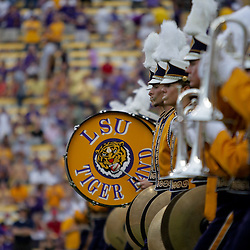 19 September 2009: The LSU Tigers band marches on the field before a game between the University of Louisiana Lafayette Ragin' Cajuns and the  LSU Tigers at Tiger Stadium in Baton Rouge, Louisiana.