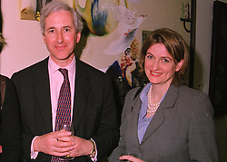 MR & MRS HUGO VICKERS, he is the royal biographer, at a party in London on 6th May 1998.MHJ 23 2ORO