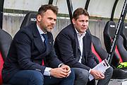NIJMEGEN- 07-05-2017, NEC - AZ,  Stadion De Goffert, 2-1, Assistent trainer Dennis Haar, Max Huiberts.