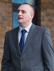 Serving police officer who has admitted six sexual assaults by touching - PC Michael Bouwers, attached to Sutton borough, outside Kingston Crown Court where he is awaiting sentencing. He carried out all the offences while off-duty at a party in a pub in Wallington, Sutton, in December 2016 - the complainants were six adult females. Kingston Crown Court, Kingston, Surrey, February 19 2018.