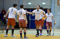 ROTTERDAM -  Finale bij de mannen tussen MOP H2 en Pinoke H2 tijdens het Landskampioenschap reserveteam zaal 2013. FOTO KOEN SUYK