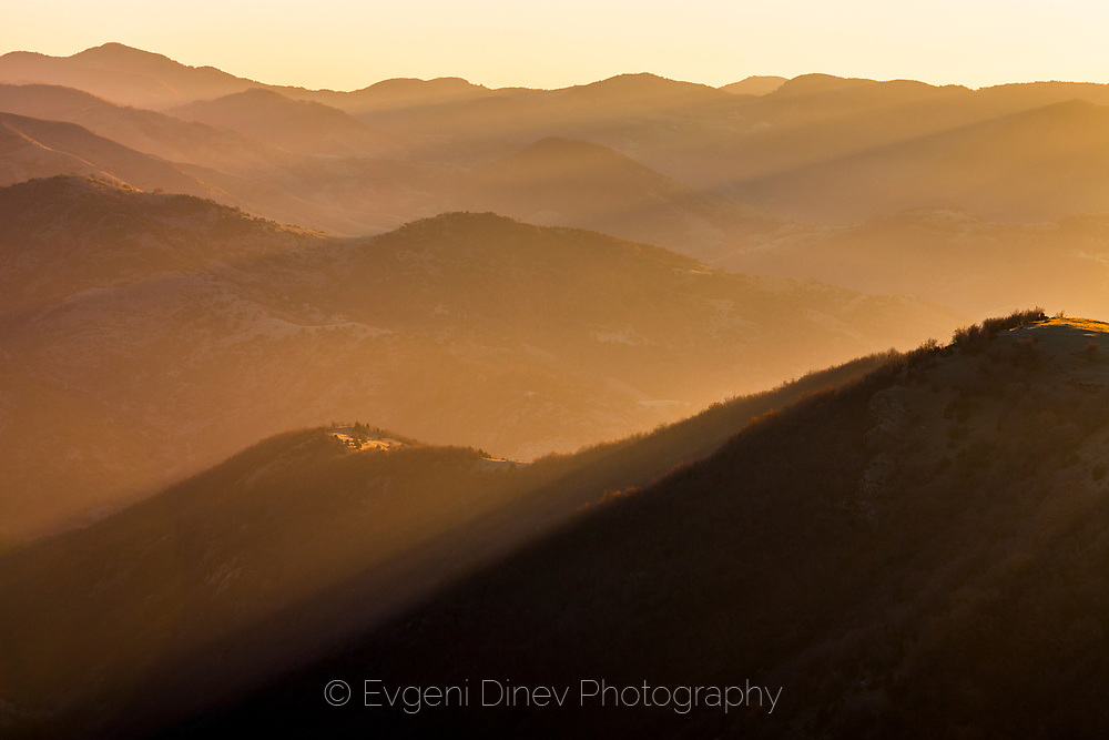 East Rhodope mountains at sunrise