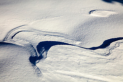 """Snow Patterns 4"" - Photograph of patterns in the snow, created by wind."