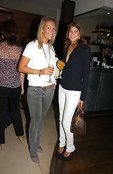 Left to right, OLIVIA BUCKINGHAM and PRINCESS FLORENCE VON PREUSSEN at Stelle d'Italia - a celebration of Italian design, fashion and style at The Roof Gardens, 99 Kensington High Street, London on 22nd September 2006.<br />