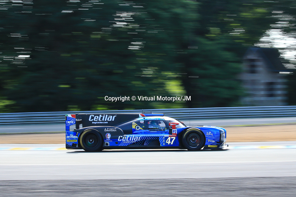 #47, Cetilar Villorba Corse, Ligier JSP217-Gibson, LMP2, driven by: Roberto Lacorte, Georgio Sernagiotto, Luiz Felipe Nasr, 24 Heures Du Mans  2018, , 16/06/2018,