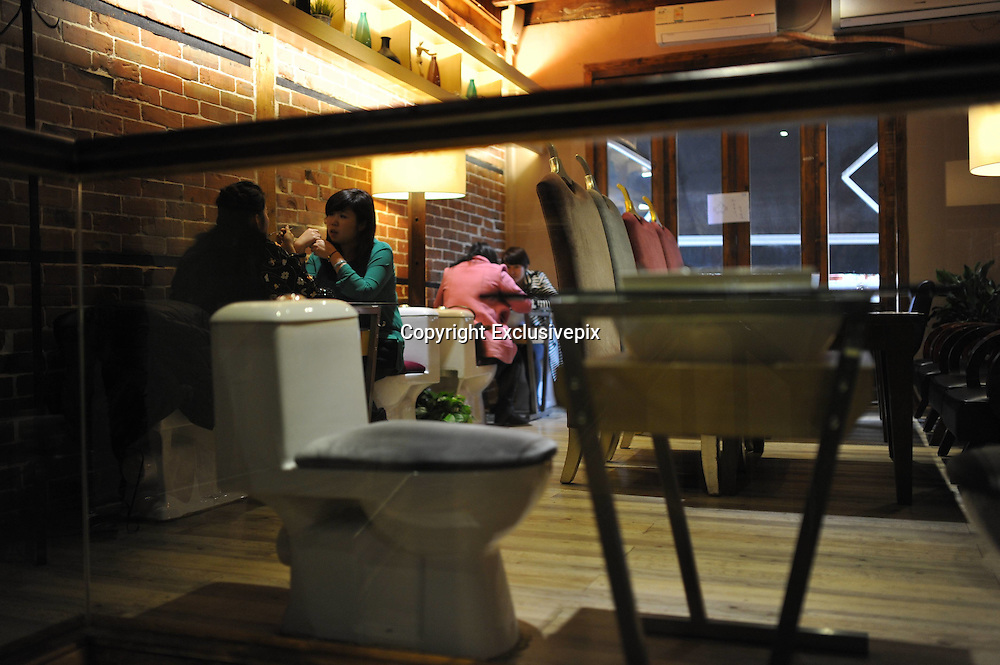 SHANGHAI, CHINA - FEBRUARY 27: (CHINA OUT)<br /> <br /> A general view of a restaurant with the theme of toilet in Shanghai, China. <br /> &copy;Exclusivepix