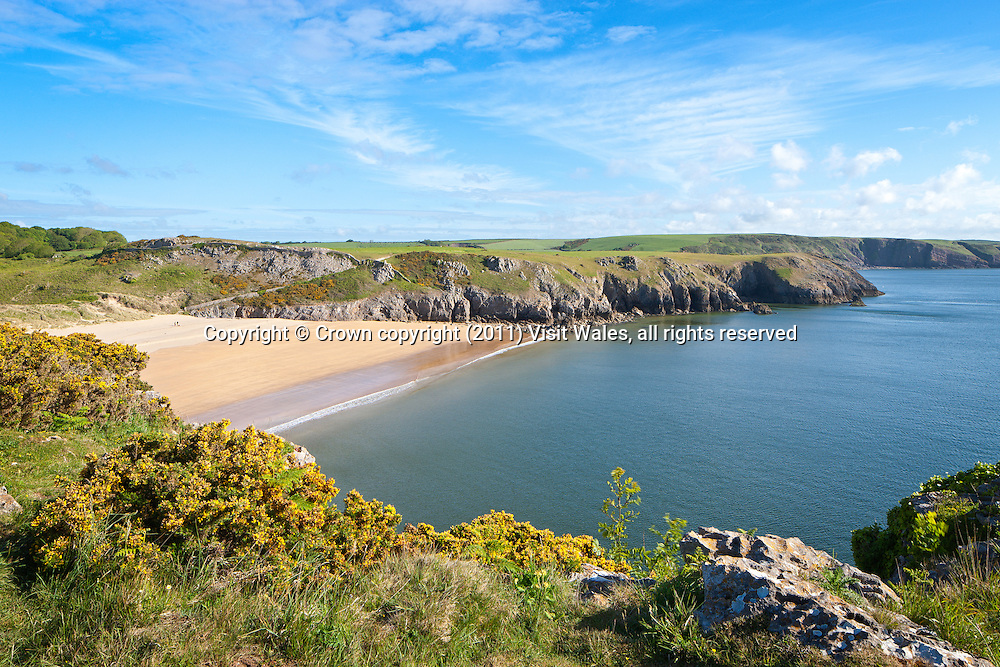 Barafundle Bay<br /> Near Stackpole Quay<br /> Pembrokeshire<br /> South<br /> Coastal Scenery
