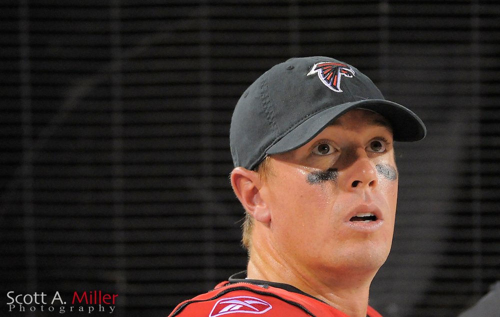 Atlanta Falcons quarterback Matt Ryan (2) on the bench during the Falcons game against the Jacksonville Jaguars at EverBank Field on Aug. 19, 2011 in Jacksonville, Fla...©2011 Scott A. Miller
