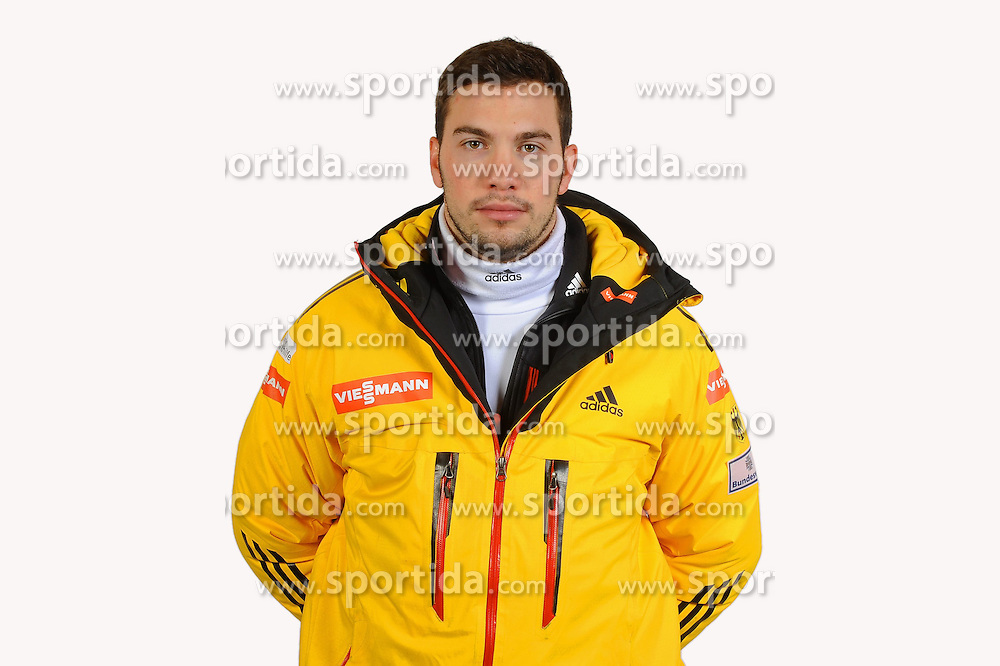 03.01.2014, Kunsteisbahn, Koenigssee, GER, BSD, Rennrodler Team Deutschland, Portrait, im Bild Tobias Wendl (RC Berchtesgaden) // during Luge athletes of team Germany, Portrait Shooting at the Kunsteisbahn in Koenigssee, Germany on 2014/01/04. EXPA Pictures &copy; 2014, PhotoCredit: EXPA/ Eibner-Pressefoto/ Stuetzle<br /> <br /> *****ATTENTION - OUT of GER*****
