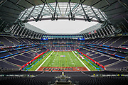 Tottenham Stadium gets set ahead of during the International Series match between Tampa Bay Buccaneers and Carolina Panthers at Tottenham Hotspur Stadium, London, United Kingdom on 13 October 2019.