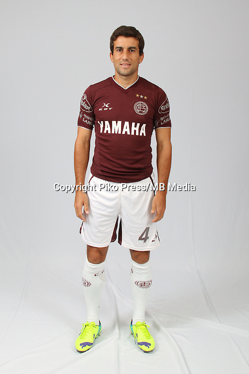 CAMPEONATO ARGENTINO Soccer / Football. <br /> LANUS Portraits <br /> Bs.As. Argentina. - March 12, 2015<br /> Here Lanus player Carlos Araujo<br /> &copy; PikoPress