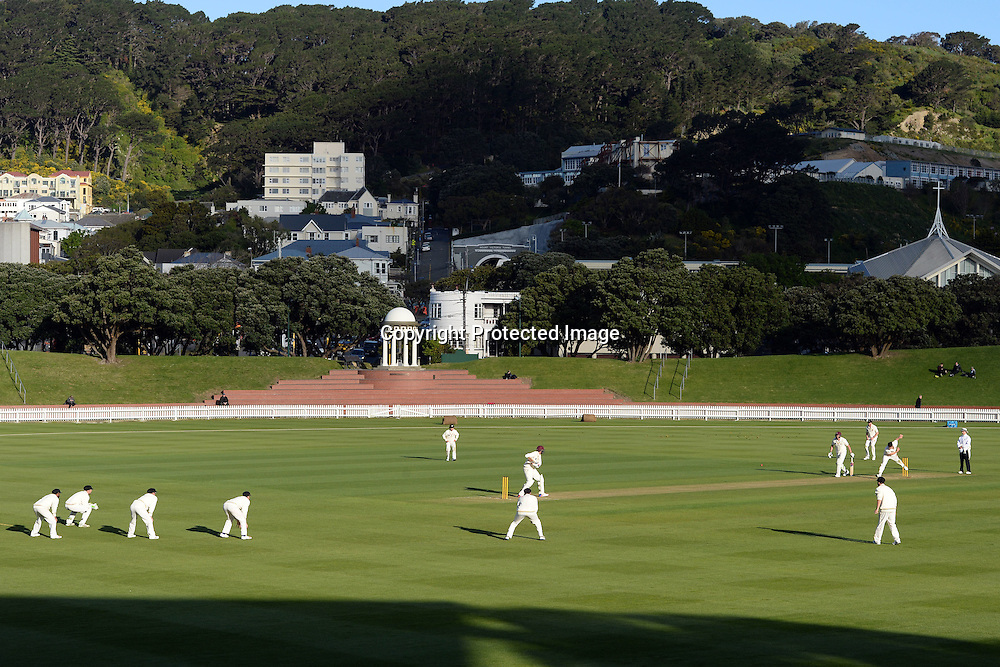 General View of the Basin Reserve during the Day 2 of the Plunket Shield cricket match, Wellington v Northern Districts, at Basin Reserve, Wellington. 30th October 2016. Copyright Photo: Raghavan Venugopal / www.photosport.nz