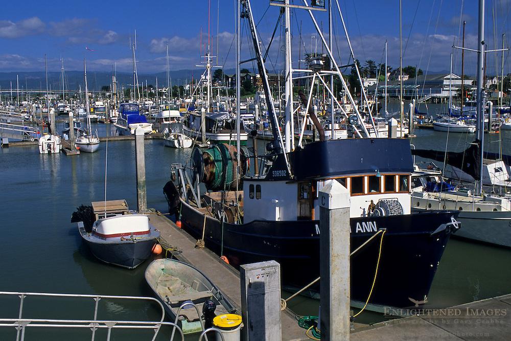 Commercial Fishing boats in Eureka Harbor, Eureka, Humboldt County, CALIFORNIA