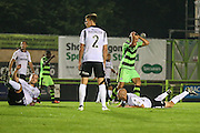 Forest Green Rovers Darren Carter (12) misses a chance during the Vanarama National League match between Forest Green Rovers and Eastleigh at the New Lawn, Forest Green, United Kingdom on 13 September 2016. Photo by Shane Healey.