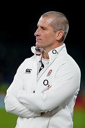 England Head Coach Stuart Lancaster looks on after England beat Australia 26-17 - Photo mandatory by-line: Rogan Thomson/JMP - 07966 386802 - 29/11/2014 - SPORT - RUGBY UNION - London, England - Twickenham Stadium - England v Australia - QBE Autumn Internationals.