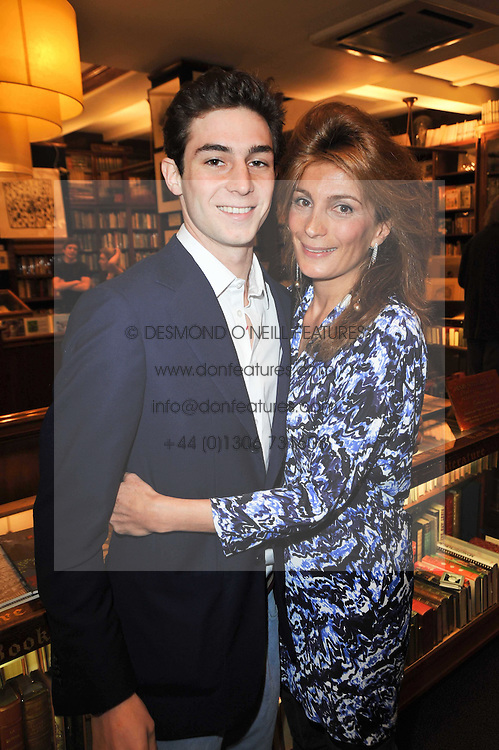 MARYAM SACHS and her son PHILLIP SACHS at a party to celebrate the publication of Maryam Sach's novel 'Without Saying Goodbye' held at Sotheran's Bookshop, 2 Sackville Street, London on 10th November 2009.