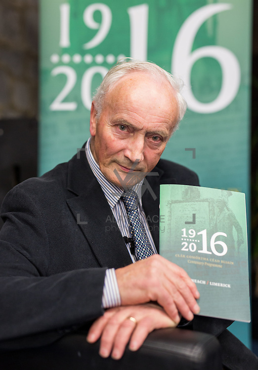 27.01.2016<br /> The Limerick City Library kicked off its series of lectures to mark the centenary of the 1916 Rising with a talk by Tom Toomey, author of the acclaimed 'The War of Independence in Limerick'. Picture: Alan Place