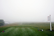 The 5th tee box seen during a delay due to fog during the first day of the US Women's Open Golf Championship at Newport Country Club in Newport Rhode Island, Thursday  29 June 2006