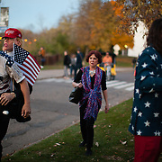 Trump rally supporters at the University of Wisconsin, Eau Claire campus, candidate Donald Trump spoke at the campus on November 1st, 2016