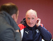 Dundee assistant manager Gerry McCabe speaks to the media ahead of the visit of Kilmarnock on Saturday, Dens Park, Dundee.Photo: David Young<br /> <br />  - &copy; David Young - www.davidyoungphoto.co.uk - email: davidyoungphoto@gmail.com