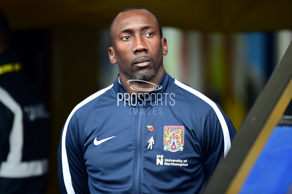 Northampton Town manager Jimmy Floyd Hasselbaink during the EFL Sky Bet League 1 match between Oxford United and Northampton Town at the Kassam Stadium, Oxford, England on 11 November 2017. Photo by Dennis Goodwin.
