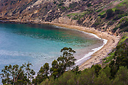 Smugglers Cove, Santa Cruz island, Channel Islands National Park, California USA