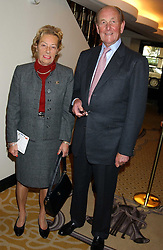 MR & MRS JOHN DUNLOP at The Sir Peter O'Sullevan Charitable Trust Lunch at The Savoy, London on 23rd November 2005.<br />