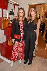 Rose Macdonald-Buchanan and Daisy Knatchbull at the reopening of the Cartier Boutique, New Bond Street, London, England. 31 January 2019. <br /> <br /> ***For fees please contact us prior to publication***