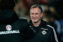 March 24, 2016 - Cardiff, United Kingdom - Michael O?Neill, manager of Northern Ireland during the international friendly match at the Cardiff City Stadium. Photo credit should read: Philip Oldham/Sportimage.(Credit Image: © Sport Image/Sportimage/CSM via ZUMA Wire)