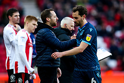 Edward Upson of Bristol Rovers shakes hands with Bristol Rovers manager Ben Garner - Mandatory by-line: Robbie Stephenson/JMP - 22/02/2020 - FOOTBALL - Stadium of Light - Sunderland, England - Sunderland v Bristol Rovers - Sky Bet League One