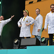 Brainiac Live performs at West End Live 2019 - Day 2 in Trafalgar Square, on 23 June 2019, London, UK.