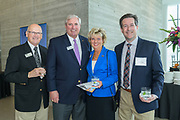 Ron Barnes, Chip Hancock, Darla Townsend and Mark Weaver at the 10-year anniversary celebration of Republic Bank's Private Banking and Business Banking divisions Wednesday, May 17, 2017, at the Speed Art Museum in Louisville, Ky. (Photo by Brian Bohannon)