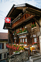 Le Chalet Cafe, a vacation house and cafe, Gruyere, Switzerland.