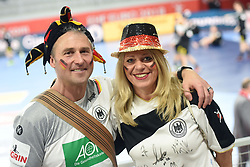 19.01.2018, Varazdin Arena, Varazdin, CRO, EHF EM, Herren, Deutschland vs Tschechien, Hauptrunde, Gruppe 2, im Bild German Fans // during the main round, group 2 match of the EHF men's Handball European Championship between Germany and Czech Republic at the Varazdin Arena in Varazdin, Croatia on 2018/01/19. EXPA Pictures © 2018, PhotoCredit: EXPA/ Pixsell/ Vjeran Zganec Rogulja<br /> <br /> *****ATTENTION - for AUT, SLO, SUI, SWE, ITA, FRA only*****