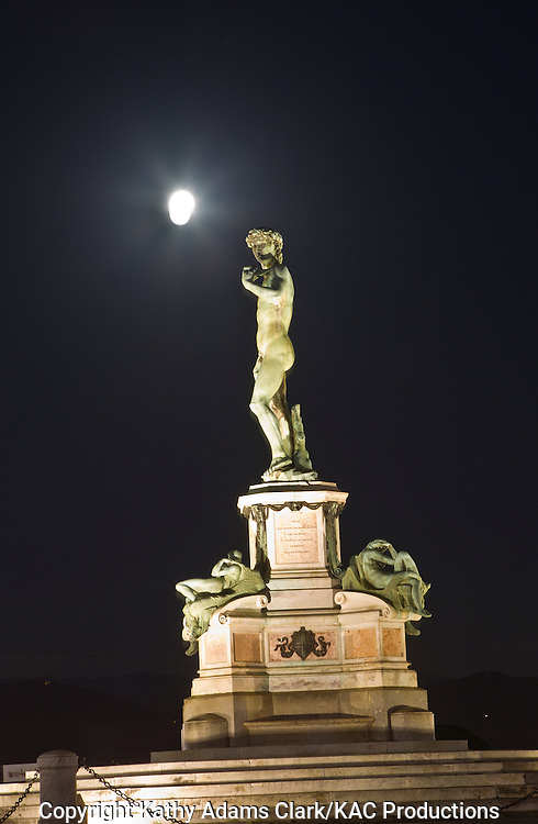 Statue of David, at piazzale michelangelo , Florence, Firenze, Italy.