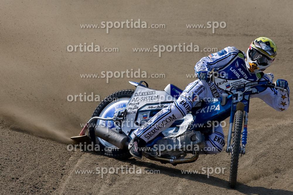 Matej Zagar of Slovenia at Speedway Slovenian National Championships race, on April 17, 2010, in Sportni park Ilirija, Ljubljana, Slovenia. (Photo by Vid Ponikvar / Sportida)