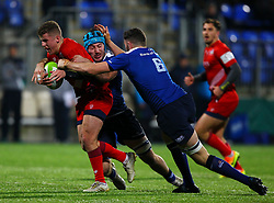 Billy Searle of Bristol United is tackled by Jack Capon and Max Cresswell of Bristol United - Mandatory by-line: Ken Sutton/JMP - 15/12/2017 - RUGBY - Donnybrook Stadium - Dublin,  - Leinster 'A' v Bristol United -