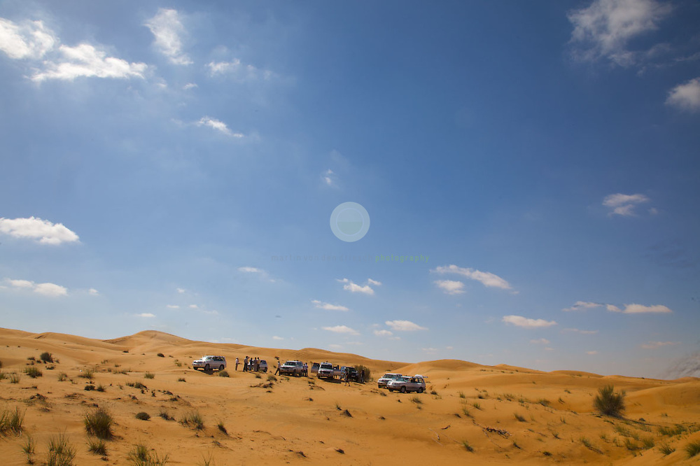 In the great outdoors of the UAE: Vincent's class in the desert near Dubai.