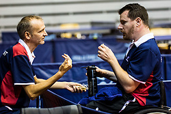 MERRIEN Florian of France with his coach during SPINT 2018 Table Tennis world championship for the Disabled, Day One, on October 16th, 2018, in Dvorana Zlatorog, Celje, Slovenia. . Photo by Grega Valancic / Sportida
