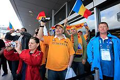 Christchurch-Rugby, RWC, Romania arrive