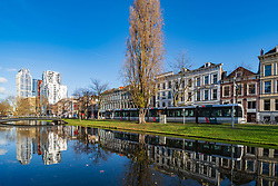 Mauritsweg and Westersingel canal in Rotterdam, Netherlands
