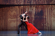 Anna Karenina<br /> The Mariinsky Ballet <br /> Choreography by <br /> Alexei Ratmansky<br /> at The Royal Opera House, Covent Garden, London, Great Britain <br /> Press photocall <br /> 3rd August 2017 <br /> <br /> Diana Vishneva as Anna Karenina<br /> <br /> Konstantin Zverev as Count Vronsky<br /> <br /> <br /> Photograph by Elliott Franks <br /> Image licensed to Elliott Franks Photography Services