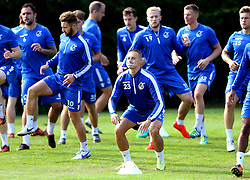 Billy Bodin of Bristol Rovers and his teammates warm up for training - Mandatory by-line: Robbie Stephenson/JMP - 15/09/2016 - FOOTBALL - The Lawns Training Ground - Bristol, England - Bristol Rovers Training