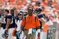 Virginia defensive coordinator Mike London.  The Virginia Cavaliers defeated the Duke Blue Devils 23-14 at Scott Stadium in Charlottesville, VA on September 8, 2007  With the loss, Duke extended their longest-in-the-nation losing streak to 22 games.